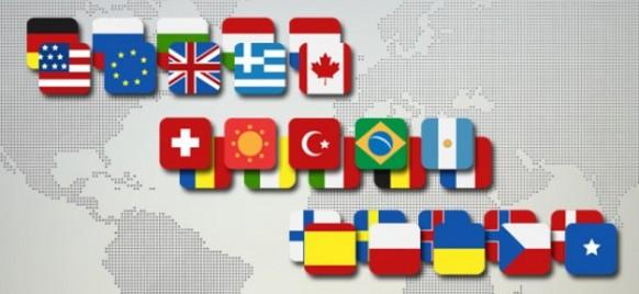 مجموعه آیکون پرچم کشورها به صورت PSD