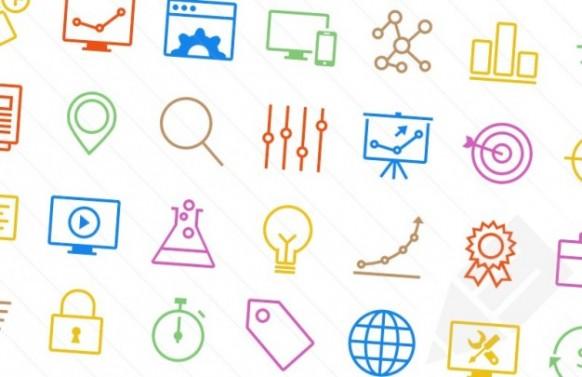 آیکن های SEO برای طراحی بنر و وبسایت