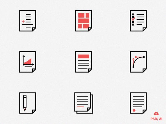 Flat-document-icon-set-www.banerplus.ir