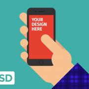 دانلود PSD آیفون 6s در دست