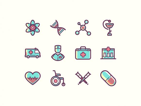 پک آیکون های پزشکی