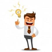 وکتور کاراکتر مرد تجار با ایده جدید