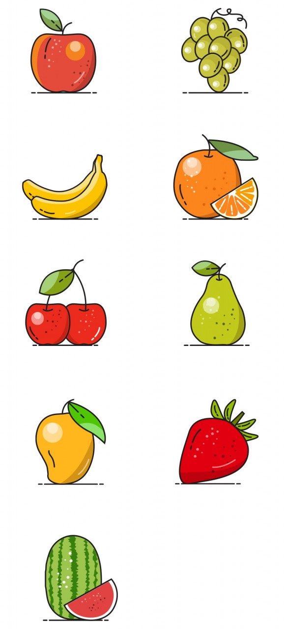 vector-fruit-icons