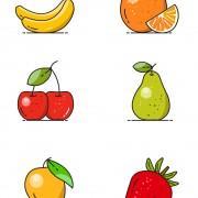 وکتور میوه های مختلف